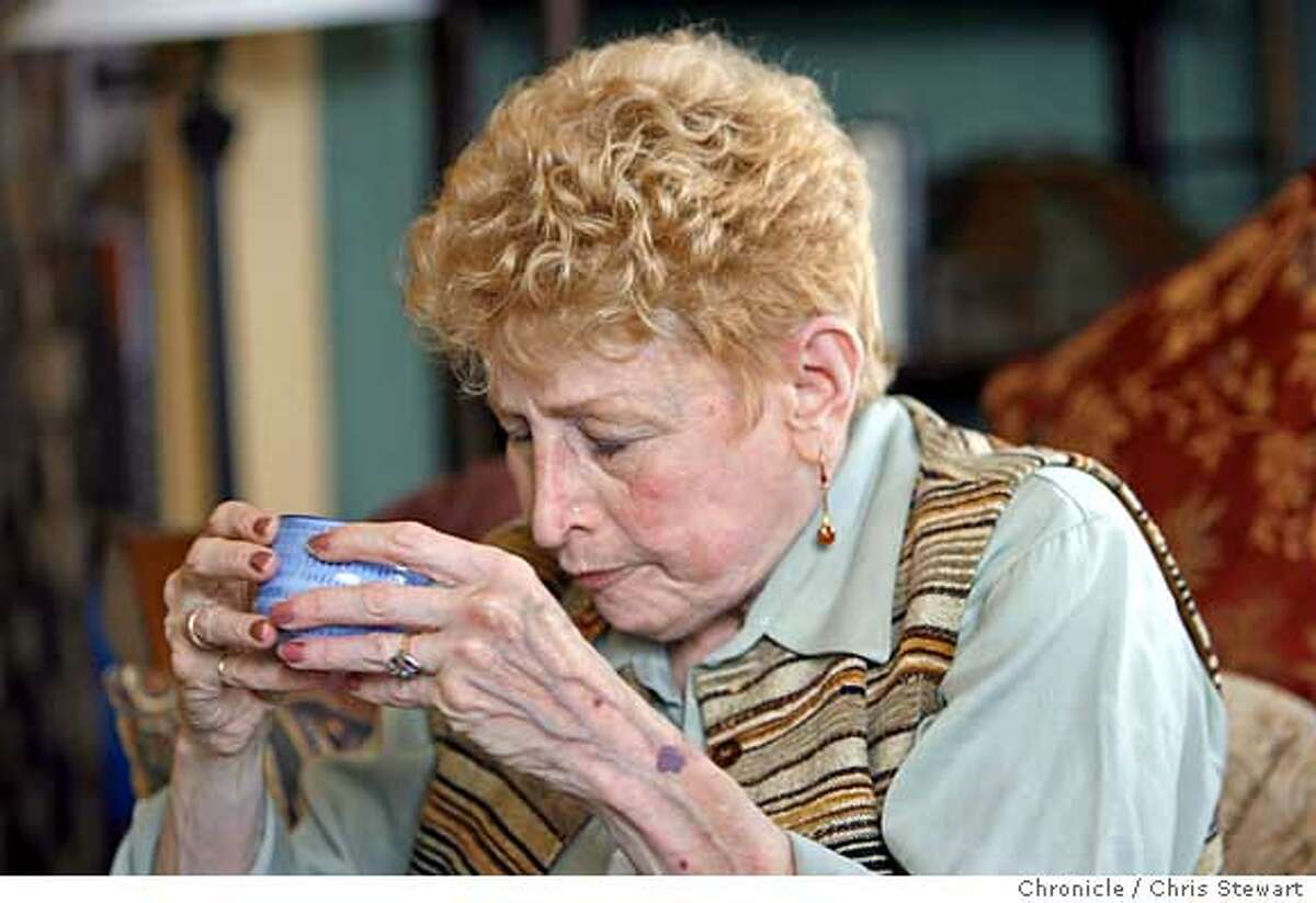 eastmed_cohen_085_cs.jpg Event on 6/9/06 in San Francisco. Sheila J. Cohen, a San Francisco color consultant, finishes drinking a cup of unpleasant tasting medicinal tea made from powdered Chinese herbs for chronic lung problems brought on by breast cancer treatment. The traditional Chinese medicine boosts her immune system. Photographed June 9, 2006. Chris Stewart / The Chronicle traditional Chinese medicine, Sheila Cohen Ran on: 06-27-2006 Yvette Coulter relaxes during an acupuncture treatment at the Osher Center for Integrative Medicine at UCSF. Ran on: 06-27-2006 Yvette Coulter relaxes during an acupuncture treatment at the Osher Center for Integrative Medicine at UCSF.