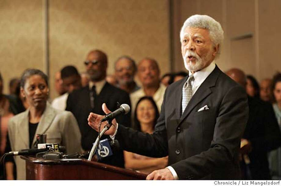 Dellums1036_lm.jpg Ron Dellums, Oakland mayor-elect, speaks at a press conference on Monday, June 19, 2006 at the Oakland Marriott in Oakland, CA. Laura Morton/The Chronicle MANDATORY CREDIT FOR PHOTOGRAPHER AND SAN FRANCISCO CHRONICLE/ -MAGS OUT Photo: Laura Morton