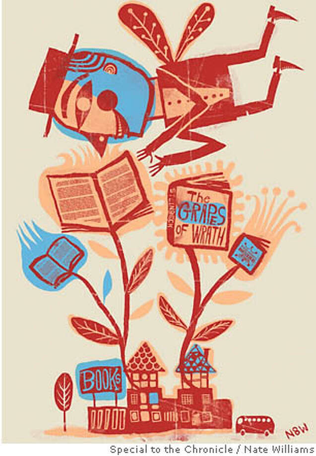 Book lust drives a man wild. Illustration by Nate Williams, special to the Chronicle