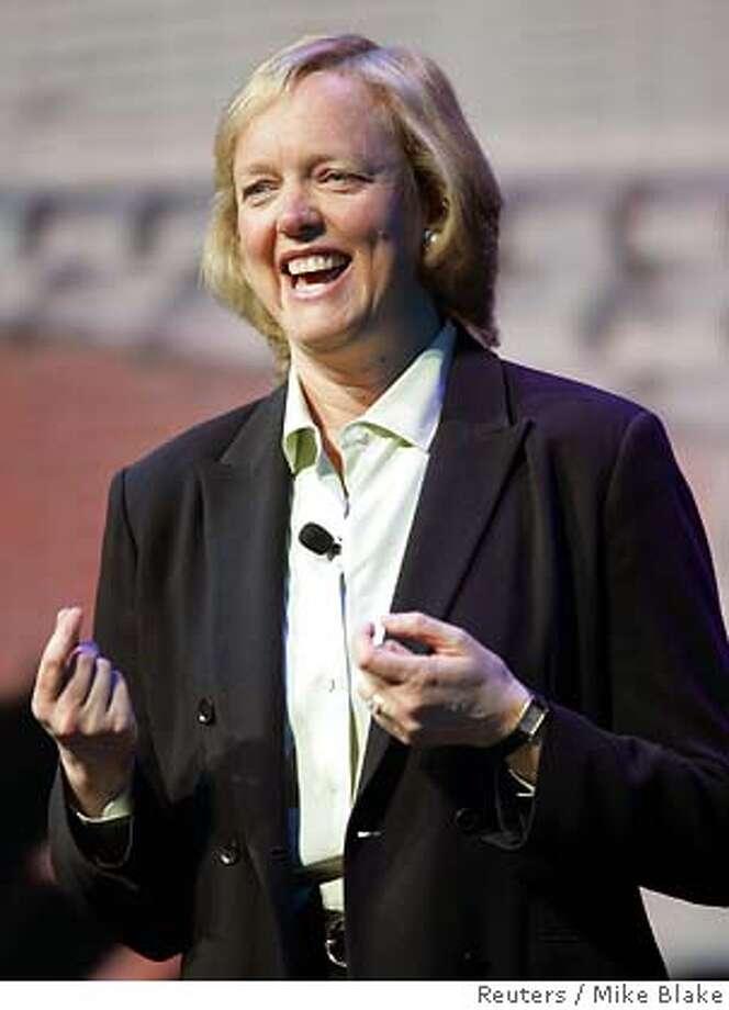 Ebay CEO Meg Whitman speaks at Consumer Electronics Show in Las Vegas Photo: MIKE BLAKE