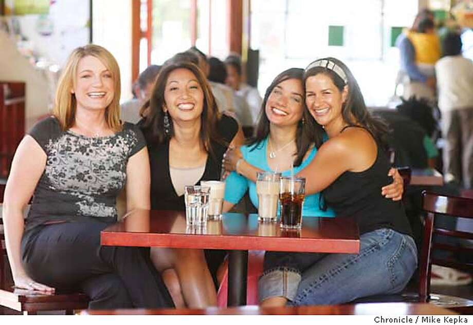 "single18066_mk.JPG  Anne, Kris, Alissa and Michelle at the stars of a new reality TV show for ACE called ""How to get a guy."" The was photographed at the Atlas Cafe in San Francisco, CA on Wednesday June 7, 2006. Mike Kepka / THe Chronicle ** George P. Shultz (cq) single18066_mk.JPG  Anne, Kris, Alissa and Michelle at the stars of a new reality TV show for ACE called ""How to get a guy."" The was photographed at the Atlas Cafe in San Francisco, CA on Wednesday June 7, 2006. Mike Kepka / THe Chronicle ** Anne, Kris, Alissa and Michelle (cq) single18066_mk.JPG  Anne, Kris, Alissa and Michelle at the stars of a new reality TV show for ACE called ""How to get a guy."" The was photographed at the Atlas Cafe in San Francisco, CA on Wednesday June 7, 2006. Mike Kepka / THe Chronicle ** Anne, Kris, Alissa and Michelle (cq) MANDATORY CREDIT FOR PHOTOG AND SF CHRONICLE/ -MAGS OUT Photo: Mike Kepka"
