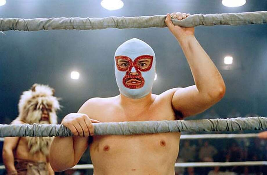 Actor Jack Black in scene from new comedy film 'Nacho Libre' Photo: PARAMOUNT PICTURES