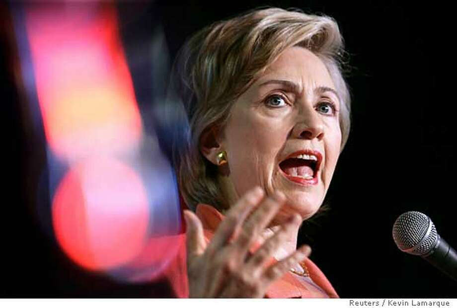 "Hillary Clinton speaks at the  ""Take Back America""  conference in Washington Photo: KEVIN LAMARQUE"