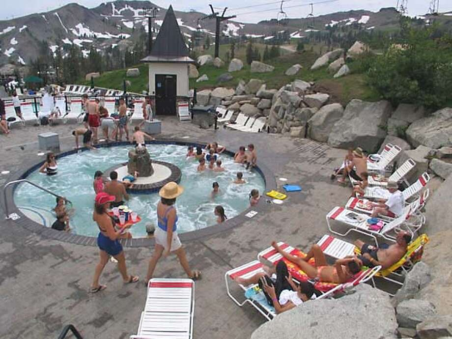 A View With Plenty Of Room Squaw Valley 39 S High Camp Offers Summer Sports With Sierra Panorama