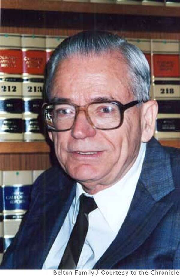 belton23_ph1.jpg Undated picture of Peter Jeffery Belton. The longtime staff attorney to the late California Supreme Court Justice Stanley Mosk, died Thursday, October 18, 2007. Belton Family / Courtesy to The Chronicle MANDATORY CREDIT FOR PHOTOG AND SAN FRANCISCO CHRONICLE/NO SALES-MAGS OUT Photo: Belton Family