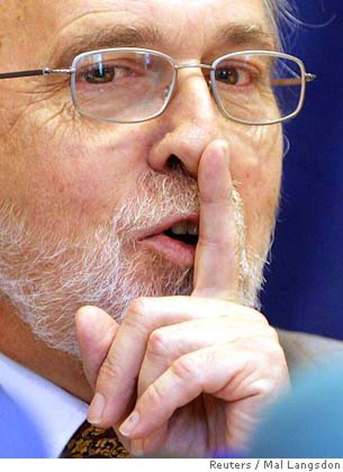 Council of Europe investigator Dick Marty of Switzerland gestures at a news conference in Paris Photo: MAL Langsdon