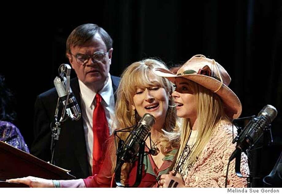 Garrison Keillor, Meryl Streep, Lindsay Lohan Photo: MELINDA SUE GORDON