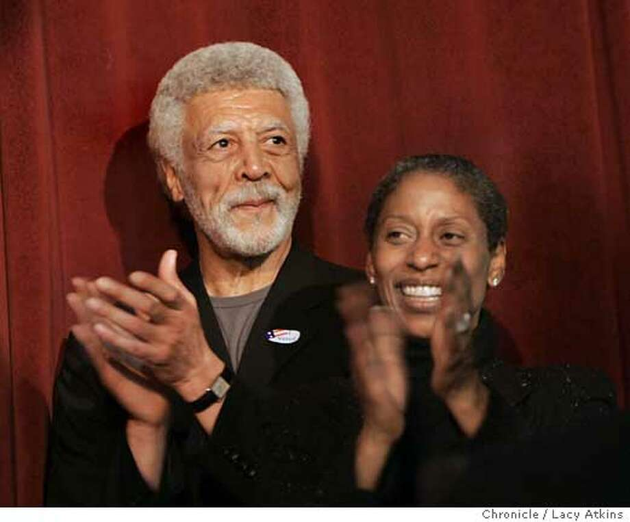 Former U.S. Rep. Ron Dellums and his wife Cynthia at the victory party for the Mayor of Oakland in Oakland,Ca.June 6, 2006. (Lacy Atkins/The Chronicle) Photo: Lacy Atkins