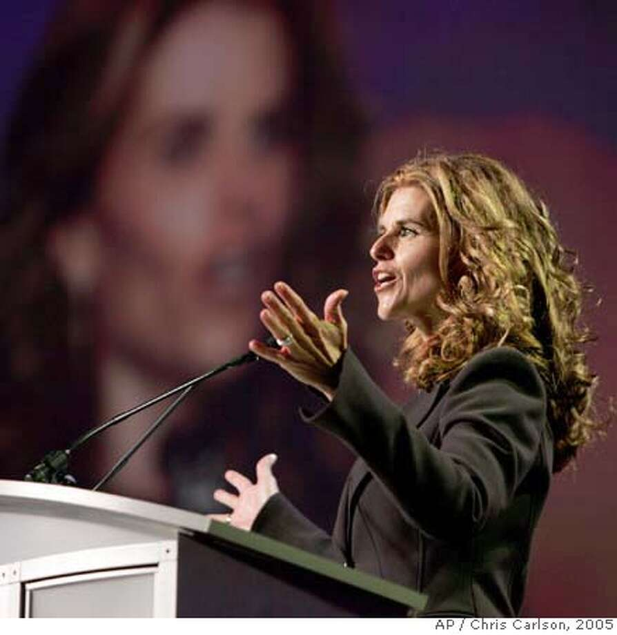"Maria Shriver wife of California Gov. Arnold Schwarzenegger speaks at the Governor and First Lady's Conference on Women and Families titled ""Women as Architects of Change: Lessons on Leadership, Activism and Family"" Thursday, Oct. 27, 2005, in Long Beach, Calif. (AP Photo/Chris Carlson) Ran on: 10-28-2005  Maria Shriver speaks at the conference on women. Ran on: 10-28-2005  Maria Shriver  ALSO Ran on: 08-13-2006 Photo: CHRIS CARLSON"