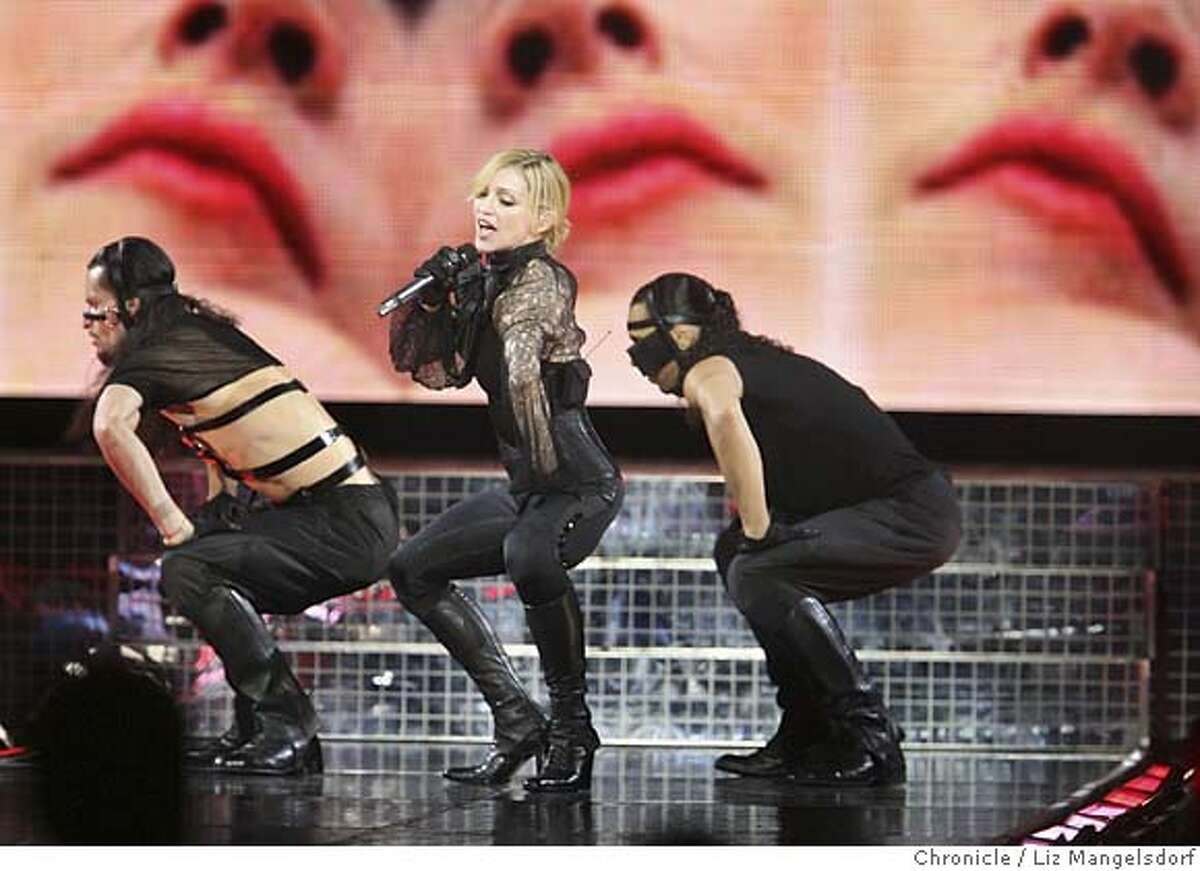 madonna004_lm.JPG Madonna performs at the HP Pavilion in San Jose on May 30, 2006. Liz Mangelsdorf /The Chronicle