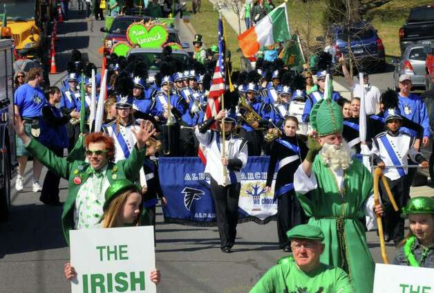The North Albany Limericks step-off for their 62nd annual St. Patrick?s Parade in Albany, NY Saturday March 17, 2012.( Michael P. Farrell/Times Union ) Photo: Michael P. Farrell