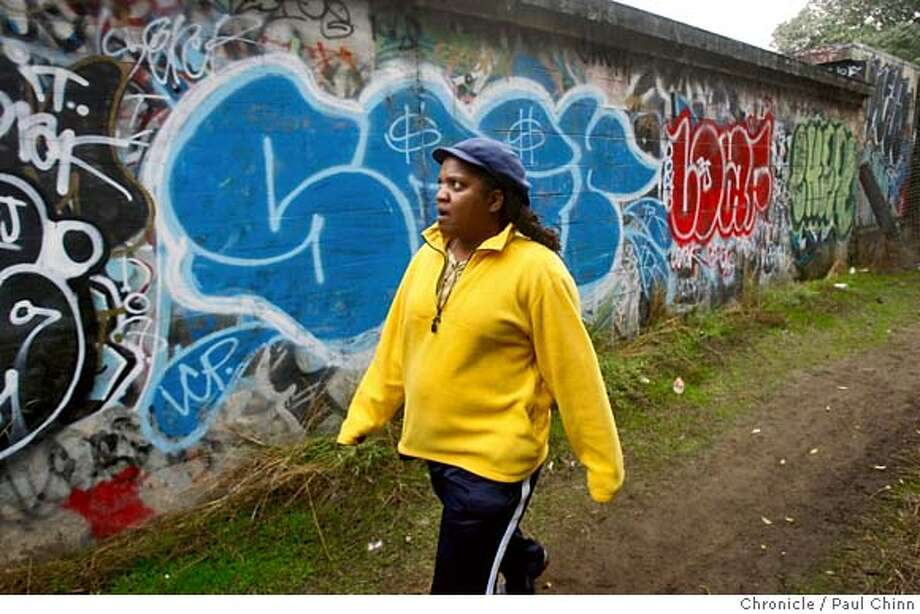Outer Richmond district resident Belle Burnett took a walk through the far west end of Golden Gate Park near the soccer fields to look for signs of homeless encampments in San Francisco, Calif. on Friday, Oct. 19, 2007.  PAUL CHINN/The Chronicle  **Belle Burnett MANDATORY CREDIT FOR PHOTOGRAPHER AND S.F. CHRONICLE/NO SALES - MAGS OUT Photo: PAUL CHINN