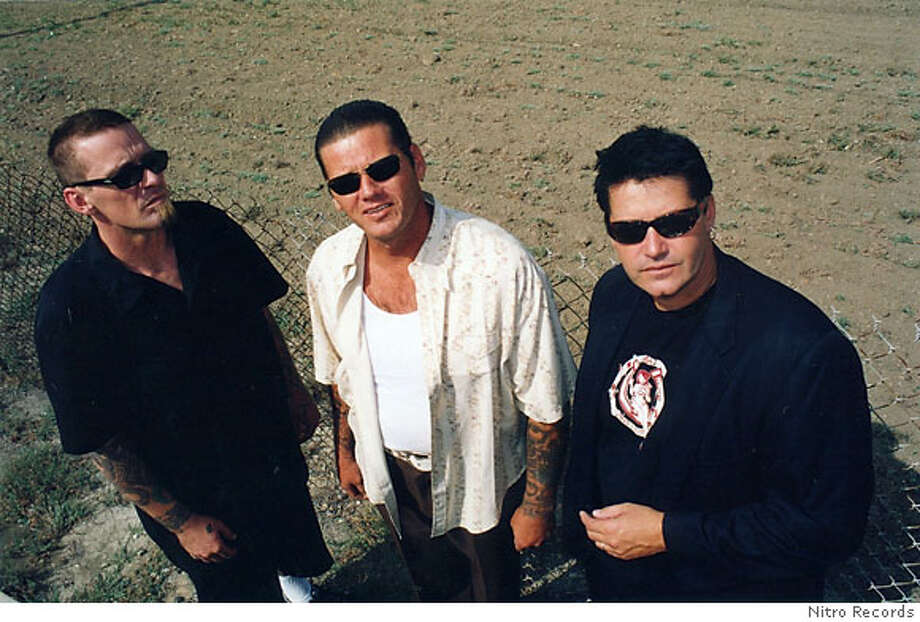 TSOL: Left - Right: Ron Emory, Mike Roche, Jack Grisham Photo: Nitro Records
