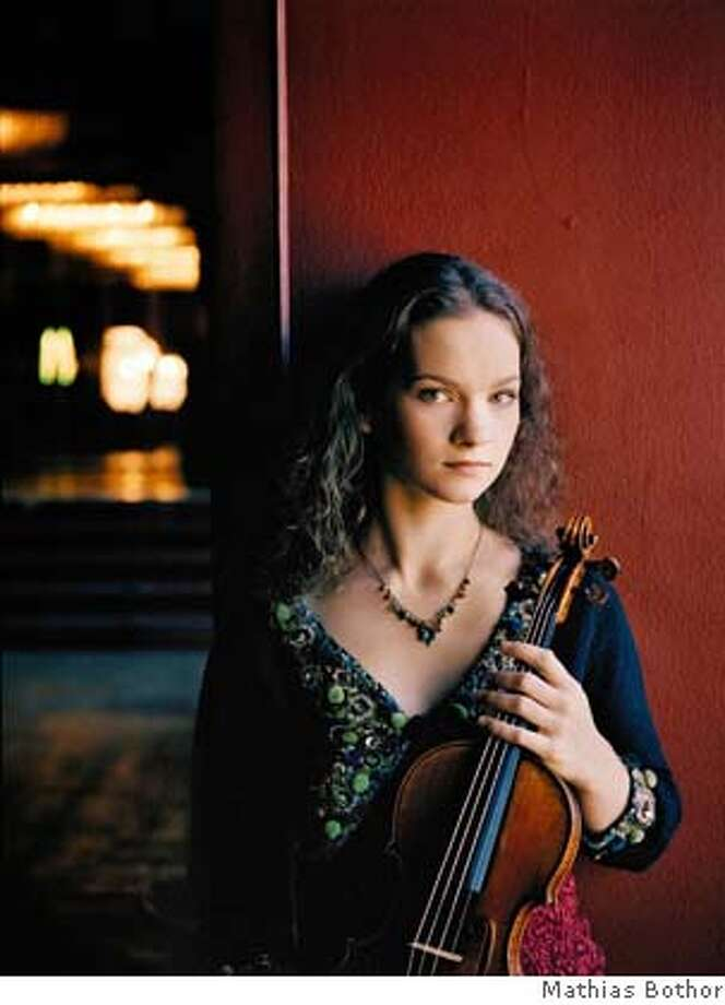 Hilary Hahn, violin  Pictured: 27-year-old Hilary Hahn returns to Cal Performances October 16, 2007.  PHOTO: Mathias Bothor Photo: Mathias Bothor