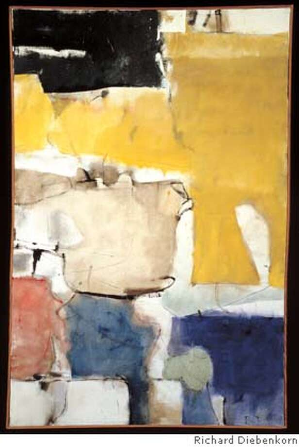 Richard Diebenkorn, Albuquerque 9, 1952. Oil on canvas. 69 1�4 x 46 inches (175.9 x 116.8 cm). Private Collection � The Estate of Richard Diebenkorn Ran on: 10-18-2007  &quo;Albuquerque 9, 1952,&quo; oil on canvas, 69? x 46 inches. Photo: Ho