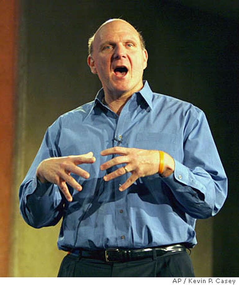 Steve Ballmer, CEO Microsoft Photo: KEVIN P. CASEY