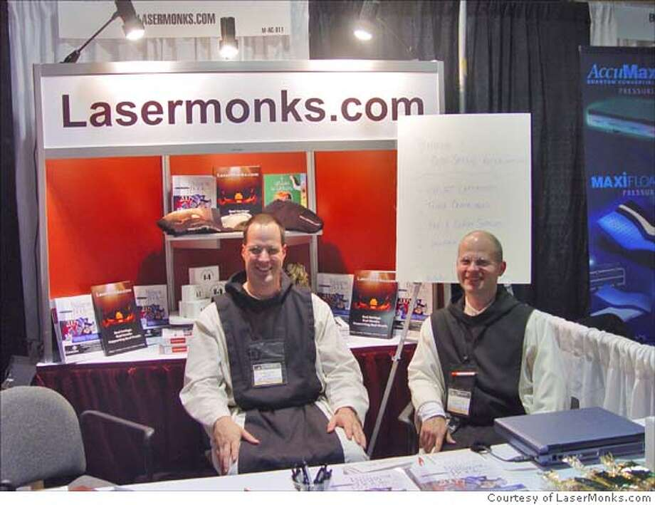 Trade shows are business as usual for the monks of LaserMonks.com. Photo courtesy of LaserMonks.com