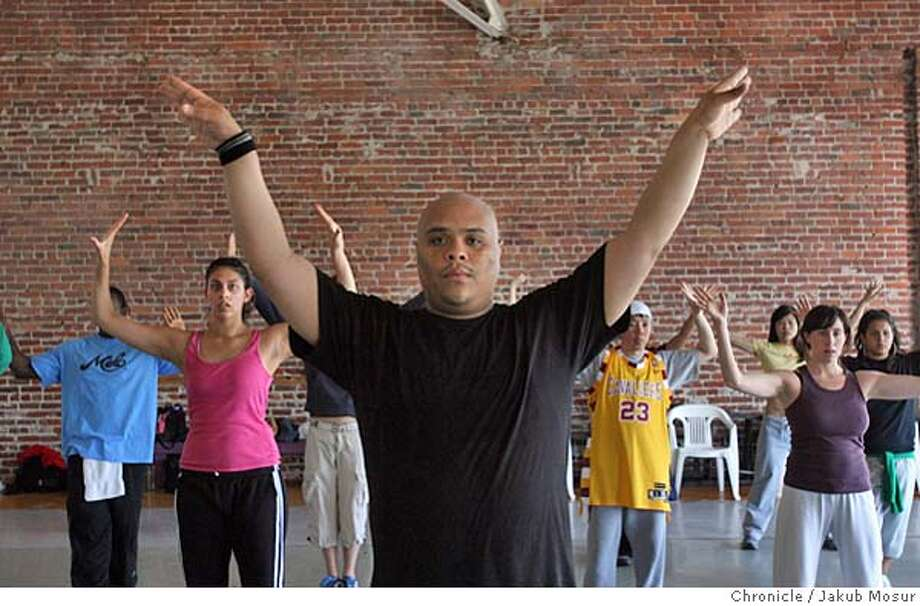 Filstar19_04_JMM.JPG  Allan Frias, son of a filipino immigrant, teaches a hip hop class at Dance Mission in San Francisco. He'll be performing on May 20 during Asian Pacific Heritage month.  Event on 5/13/06 in San Francisco. JAKUB MOSUR / The Chronicle MANDATORY CREDIT FOR PHOTOG AND SF CHRONICLE/ -MAGS OUT Photo: JAKUB MOSUR