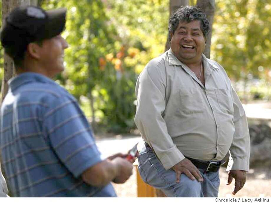 catalino tapia right laughs with one of his crew thursday oct 4