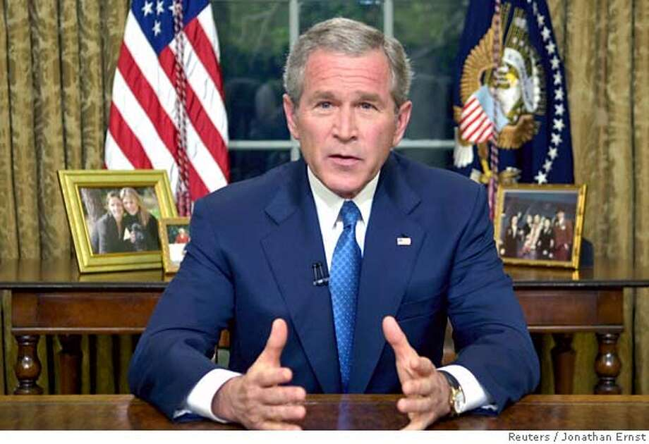 US President Bush delivers address on immigration from the Oval Office Photo: JONATHAN ERNST