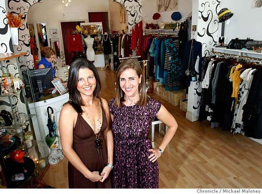 Karen Appel (left) and Jody Frank in one of their favorite clothing stores, Ooma in the North Beach area of San Francisco.  In 2003, friends Karen Appel and Jody Frank invited eight designers and 40 guests into Appel�s small Noe Valley apartment. Today, the duo of Appel & Frank puts on at least four events a year in San Francisco, bringing over 65 designers together to attract over 700 shoppers.  Photo taken on 10/12/07 by Michael Maloney / San Francisco Chronicle MANDATORY CREDIT FOR PHOTOG AND SF CHRONICLE/NO SALES-MAGS OUT Photo: Michael Maloney