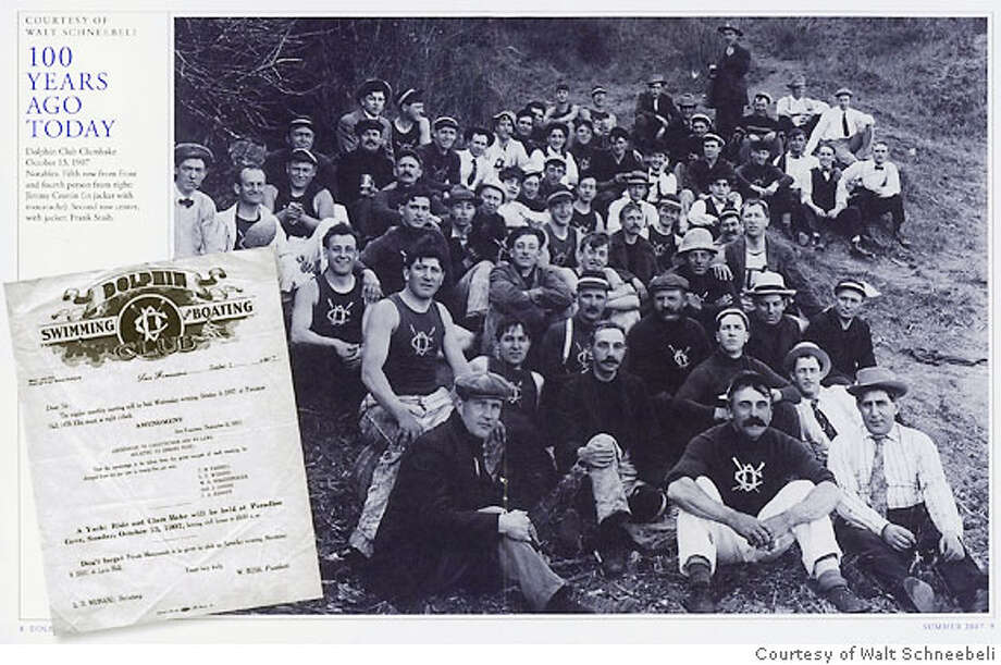 Oct. 13, 1907 - The Dolphin Club Clambake  Ran on: 10-14-2007  The Dolphin Swimming and Boating Club of San Francisco held a clam- bake in 1907 at Paradise Cove. Photo: Courtesy Of Walt Schneebeli