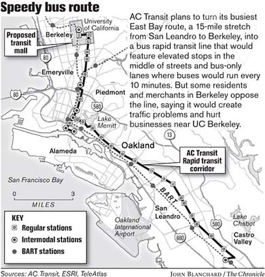 Speedy Bus Route. Chronicle Graphic