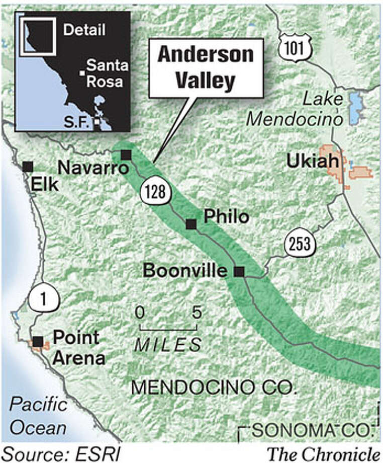Anderson Valley. Chronicle Graphic Photo: John Blanchard