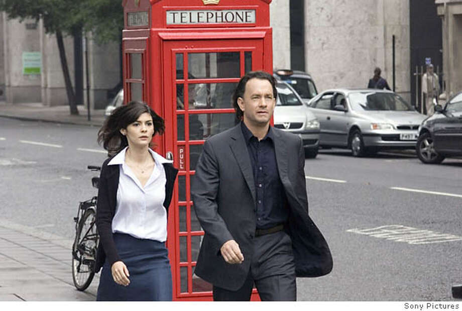 11  DF-08763_rv1 - Audrey Tautou (l) and Tom Hanks star in Columbia Pictures� suspense thriller The Da Vinci Code. **ALL IMAGES ARE PROPERTY OF SONY PICTURES ENTERTAINMENT INC. FOR PROMOTIONAL USE ONLY. SALE, DUPLICATION OR TRANSFER OF THIS MATERIAL IS STRICTLY PROHIBITED. Photo: Simon Mein