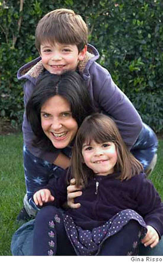 Amy Keroes and her children, Matty Fisher, 6, and Jessie Fisher, 3 1/2.  FOR USE WITH MOMMYBLOGS STORY ONLY Photo: Gina Risso