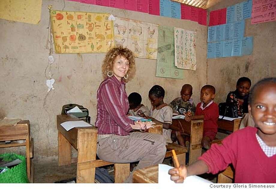 Gloria Simoneaux in Nairobi, Kenya with students Photo: Courtesy Gloria Simoneaux