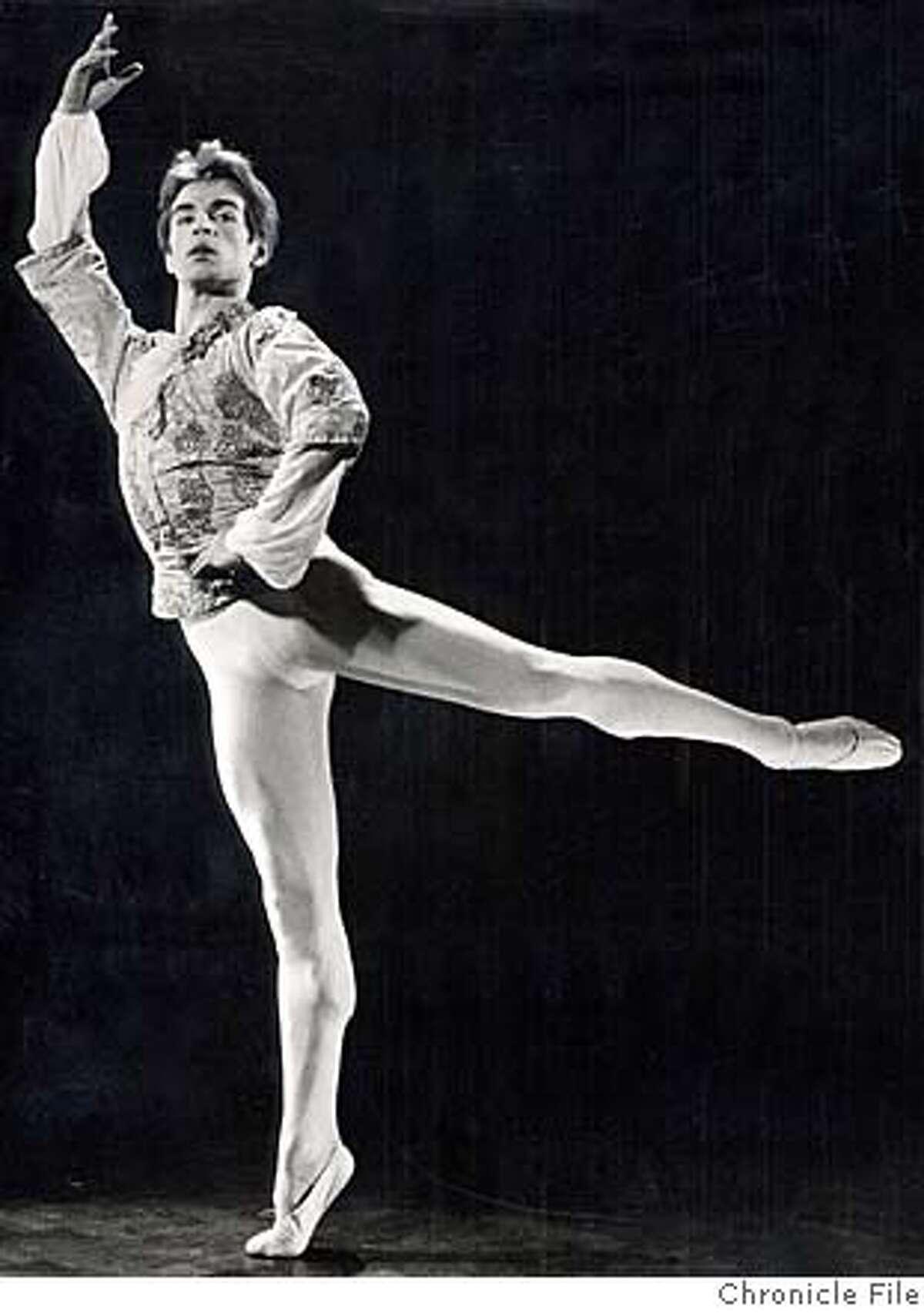 NUREYEV/C/16JUL99/MN/HO--Rudolf Nureyev Russian ballwr dancer. Chronicle file photo of 1970's ALSO RAN 12/26/02, 1/1/03 CAT