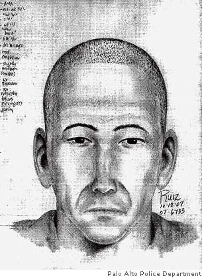 Police are searching for a man who tried to abduct a 12-year-old girl from a Palo Alto girls school today, authorities said. The attempted kidnapping was thwarted when the girl ran away, Palo Alto police said. This undated composite sketch is courtesy of the Palo Alto Police department. Photo: Palo Alto Police Department