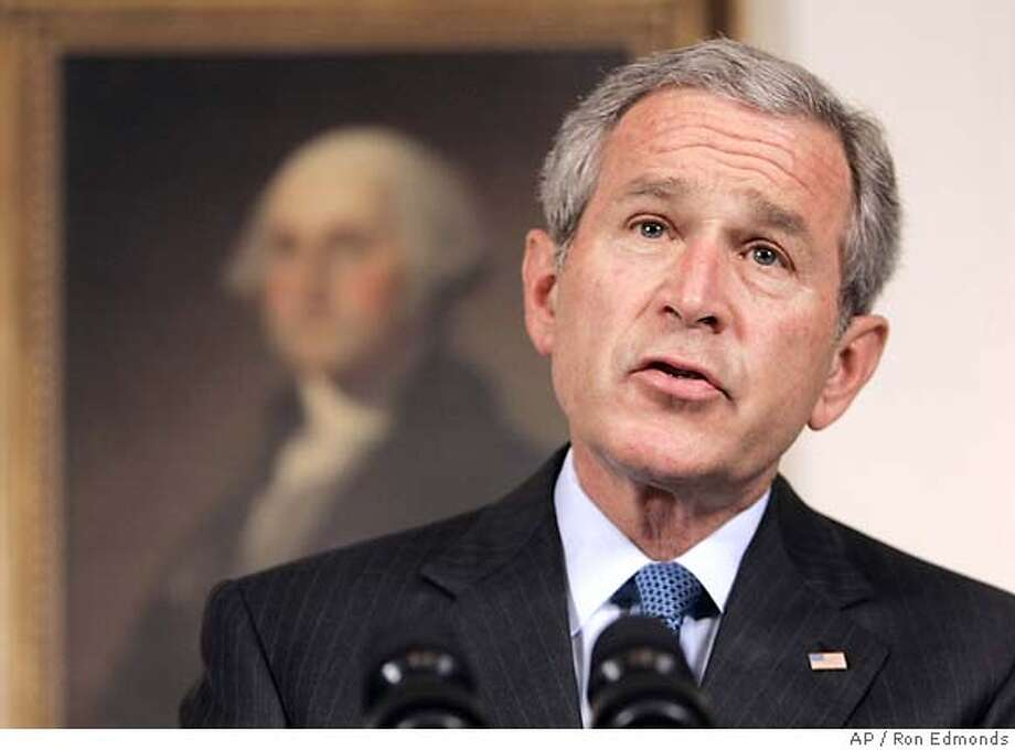 George W. Bush Photo: RON EDMONDS