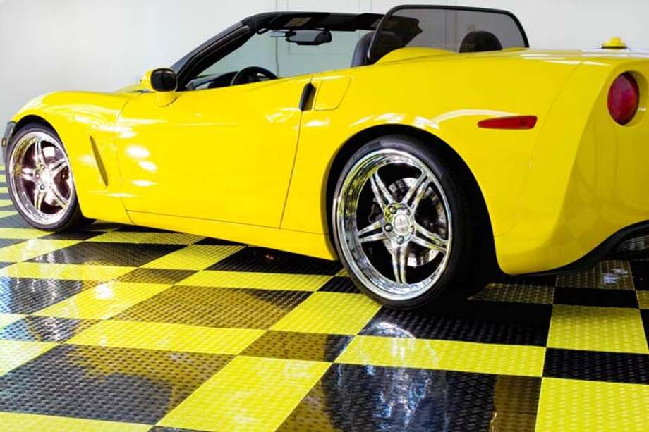 Cars With Those Spiffy Snow Hats As >> Around The House Trafficmaster Garage Tiles Offer Spiffy Flooring