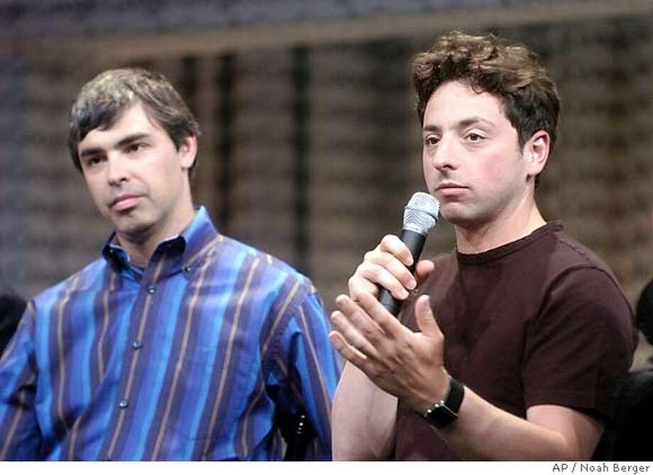 Sergey Brin, Larry Page Photo: NOAH BERGER