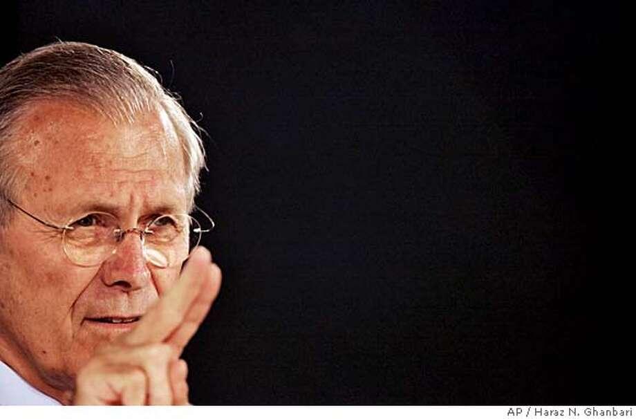 Donald H. Rumsfeld Photo: HARAZ N. GHANBARI