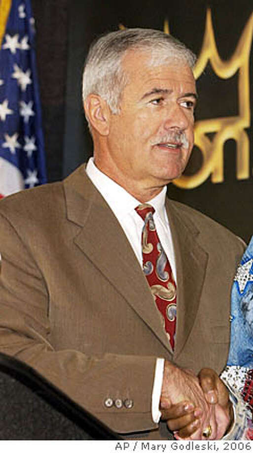 ** FILE ** Atlantic City Mayor Bob Levy is seen in Atlantic City, N.J., in this Monday, March 13, 2006 file photo. On Wednesday, Oct. 10, 2007, Edwin Jacobs, attorney for Mayor Robert Levy says that Levy, who had been missing from his job at this seaside gambling resort for two weeks, has resigned, effective immediately. (AP Photo/Mary Godleski, file) Photo: MARY GODLESKI