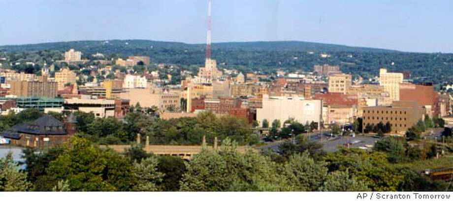 "In this undated photo provided by Scranton Tomorrow, a view of the city of Scranton, Pa. is shown. The NBC series, ""The Office"" has given Scranton, a small industrial city 100 miles north of Philadelphia where the hit comedy is set, the kind of national exposure that Chamber of Commerce types can only dream about. (AP Photo/Scranton Tomorrow) ** NO SALES ** Photo: Anonymous"