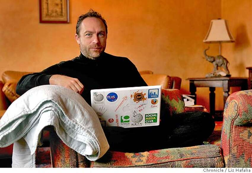 WALES12_017_LH_.JPG Jimmy Wales, founder of Wikipedia, the online encyclopedia edited by people power. Liz Hafalia/The Chronicle/San Francisco/7/11/07 **Jimmy Wales cq Ran on: 07-19-2007 Wikipedia founder Jimmy Wales is one of the most influential people on the Internet, and not afraid to shake things up. Ran on: 08-27-2007 Jimmy Wales, who founded Wikipedia, believes in the power of collective thinking.