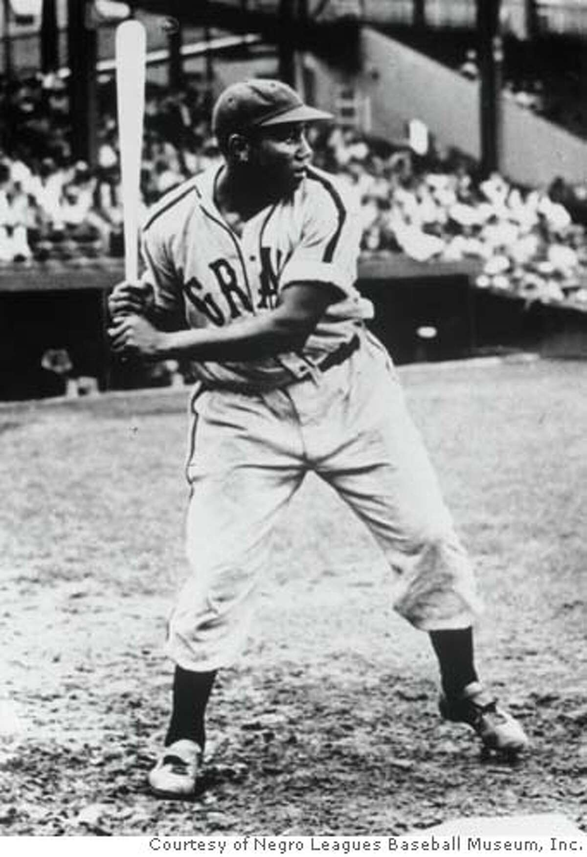 ONE TIME USE ONLY - MUST CREDIT NEGRO LEAGUES BASEBALL MUSEUM, INC. Undated photo of Josh Gibson, considered the greatest hitting slugger in Negro League history. Gibson played with the Pittsburgh Crawfords from 1930-1937 and then the Homestead Grays from 1937 until 1946. Courtesy/Negro Leagues Baseball Museum, Inc. Ran on: 05-05-2006 Ran on: 05-05-2006