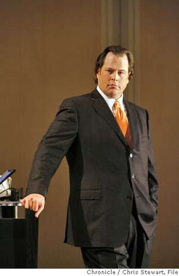 change05_208_cs.jpg Event on 4/11/06 in San Francisco.  Chron 200 special section. Marc Benioff, CEO of Salesforce.com, holds a keynote luncheon at the Four Seasons Hotel in SF. Salesforce.com is one of the new names, after it went public two years ago. Incidentally, one of its competitors, Siebel Systems, is one of the companies that has been dropped from the list after it was acquired by Oracle Corp.  Chris Stewart / The Chronicle MANDATORY CREDIT FOR PHOTOG AND SF CHRONICLE/ -MAGS OUT Photo: Chris Stewart
