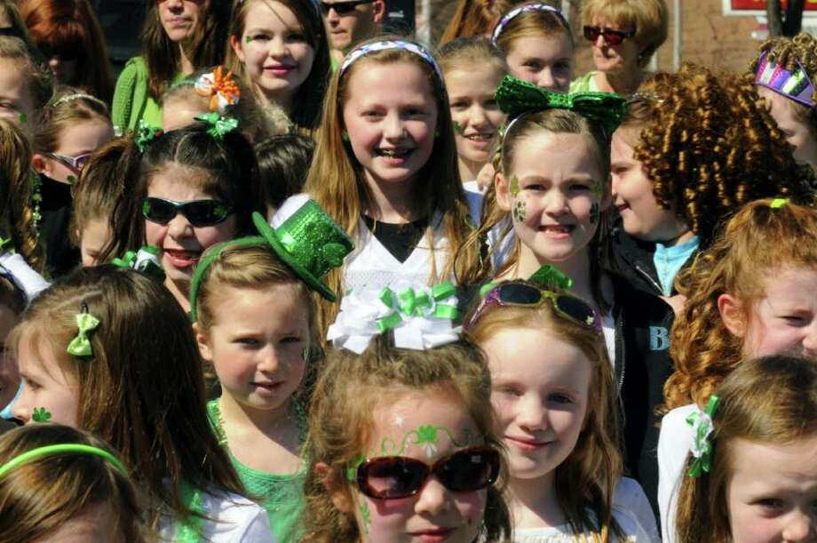 Student in the Boland School of Irish Dance march in the 62nd Annual Albany St. Patrick?s Parade in Albany, NY Saturday March 17, 2012.( Michael P. Farrell/Times Union ) Photo: Michael P. Farrell