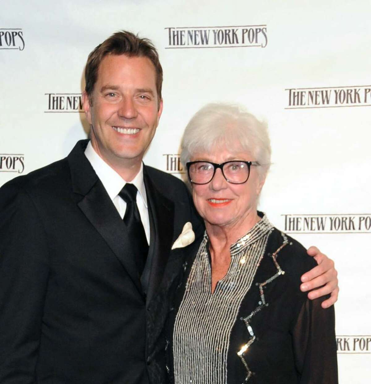 Ruth Henderson, widow of New York Pops founder Skitch Henderson stands with Steven Reineke who is the orchestra's new musical director, succeeding Henderson.