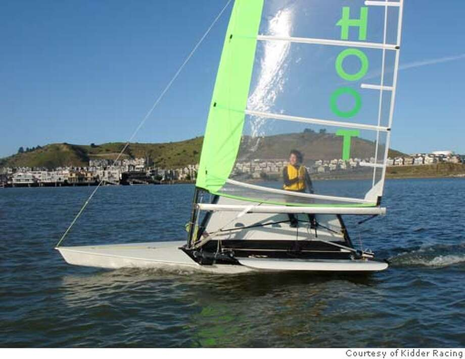 The new Hoot, a fast, cartop sailboat, has just been introduced by Kidder Racing. CREDIT: courtesy Kidder Racing Photo: Kidder Racing