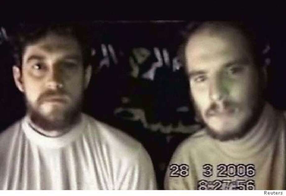 Frame grab of German hostages held in Iraq Photo: REUTERS TV