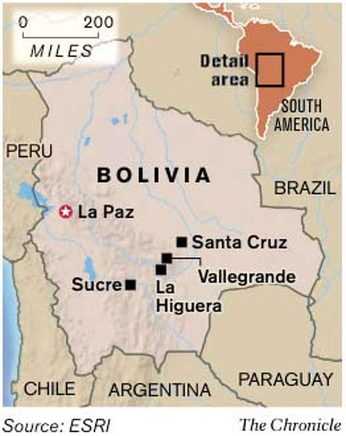 Bolivia. Chronicle Graphic