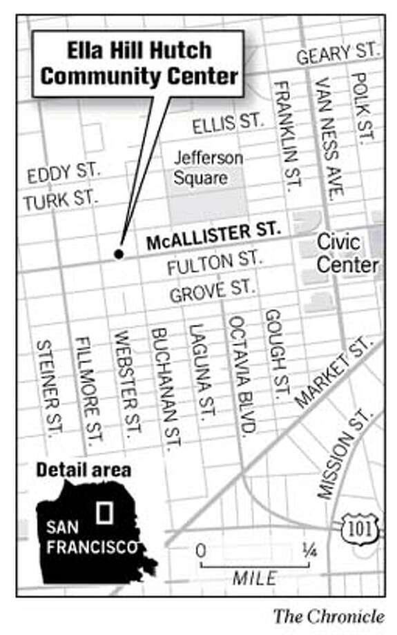 Ella Hill Hutch Community Center. Chronicle Graphic