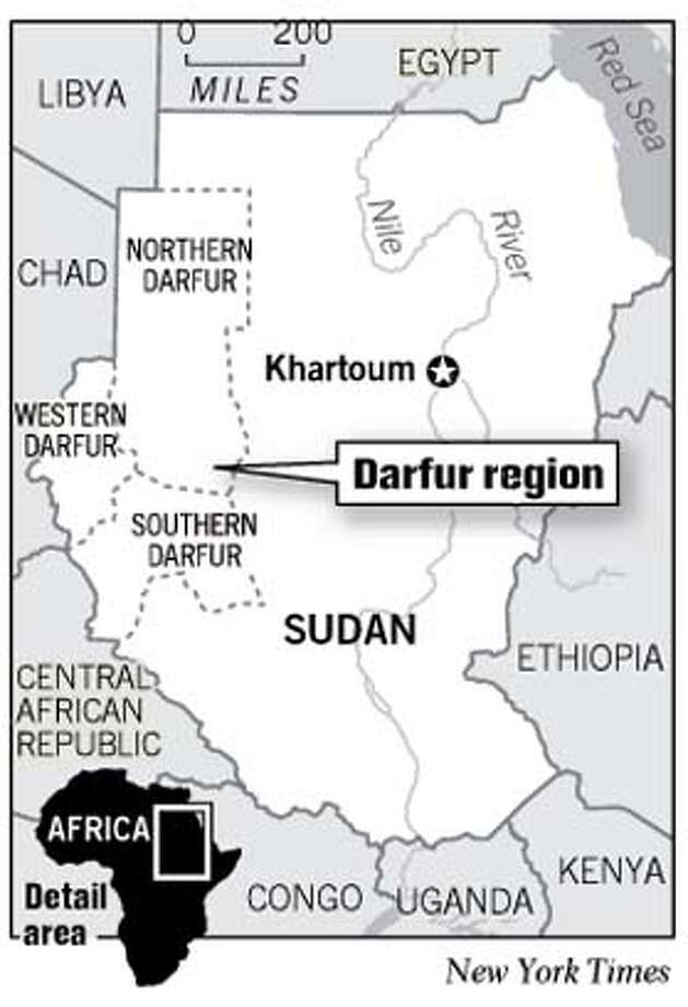 Darfur Region. New York Times Graphic