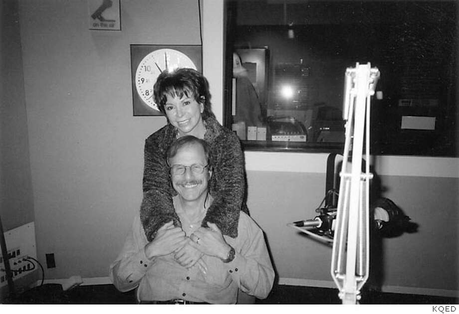 Radio host Michael Krasny with author Isabel allende Photo: Kqed